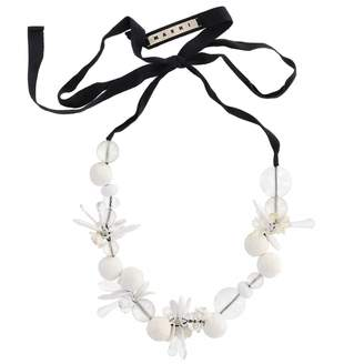 Marni White Plastic Necklace