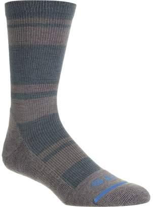 Fits Light Striped Hiker Crew Sock