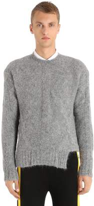 Neil Barrett Alpaca Wool Blend Knit Sweater