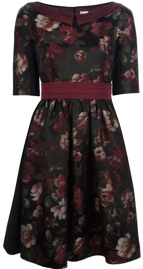 Antonio Marras flower jacquard dress