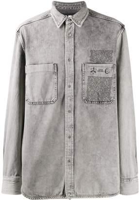 Diesel treated denim shirt