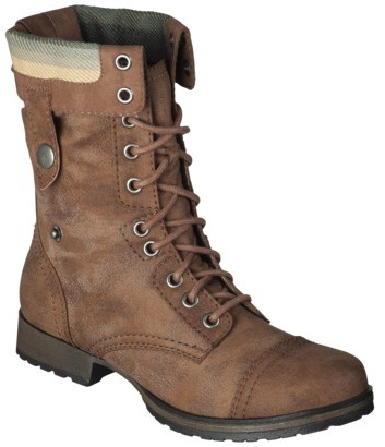 Mossimo Women's Khloe Blanket Topped Trooper Boot - Cognac