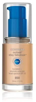 COVERGIRL Outlast Stay Fabulous 3-in-1 All Day Foundation Creamy Beige, 1 fl oz (30 ml) $9.35 thestylecure.com