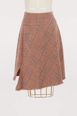 Acne Studios Plaid wool skirt