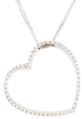 18K Diamond Heart Pendant Necklace