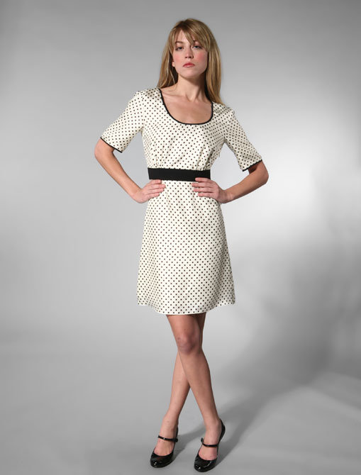 Jenni Kayne Scoop Dress in Ivory/Chocolate