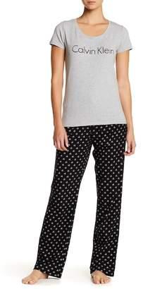Calvin Klein Comfort Fleece 2-Piece PJ Set