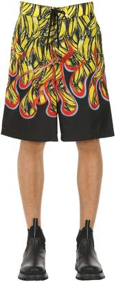 Prada Banana Printed Nylon Swim Shorts
