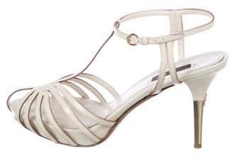 Louis Vuitton Patent Leather T-Strap Sandals gold Patent Leather T-Strap Sandals