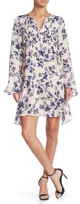 Parker Flared Sleeved Floral Print Dress