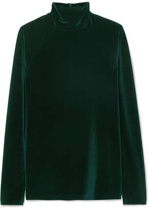 Haider Ackermann Stretch-velvet Turtleneck Top - Dark green