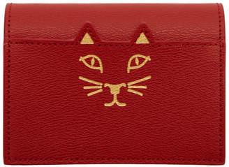 Charlotte Olympia Red Feline Card Wallet