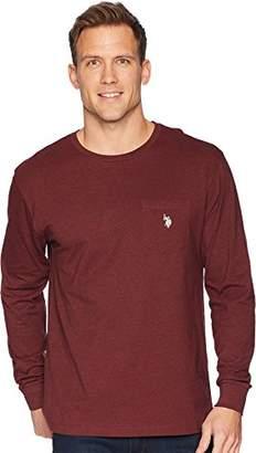 U.S. Polo Assn. Men's Long Sleeve Crew Neck Pocket T-Shirt