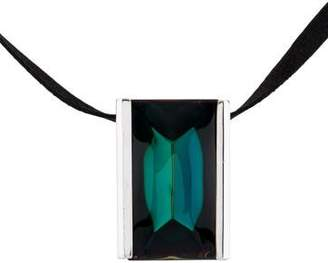 Baccarat Rectangular Crystal Pendant Necklace