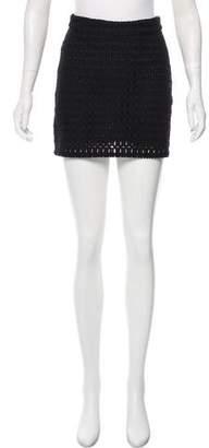 Frame Open Knit Mini Skirt