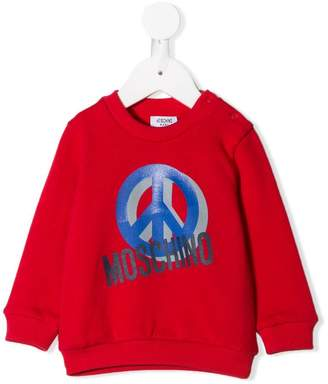 Moschino Kids peace logo sweatshirt