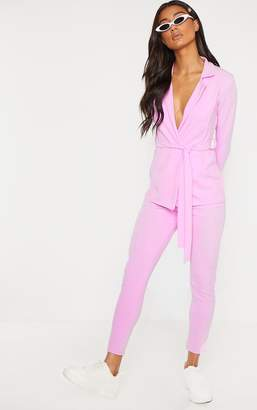 PrettyLittleThing Lilac Crepe Skinny Trousers