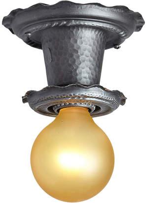Rejuvenation Petite Bare Bulb Fixture w/ Faux Hammered Texture