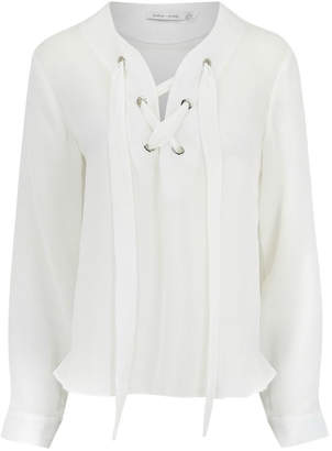 Bishop + Young Laila Lace Up Top