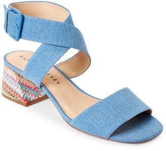 Katy Perry Blue Albee Denim Ankle Strap Sandals