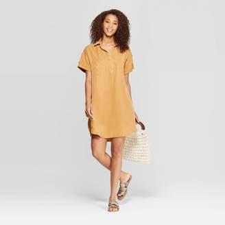 Universal Thread Women's Short Sleeve Collared At Knee Shirtdress