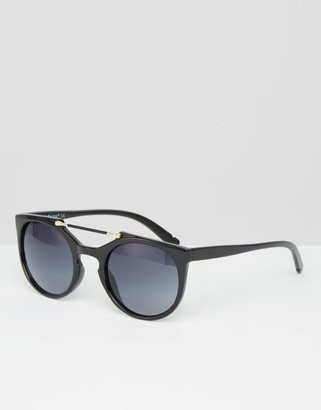 AJ Morgan Wired Brow Bar Round Sunglasses $18.50 thestylecure.com