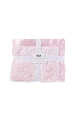 Mud Pie Pink Chenille Blanket