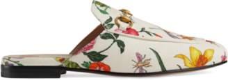 Gucci Princetown velvet G lurex loafer