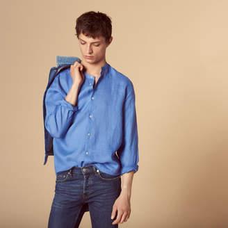 Sandro Linen shirt with mandarin collar