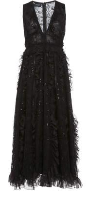 Giambattista Valli Ruffle Cotton-Blend Maxi Dress
