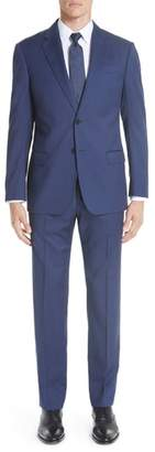 Emporio Armani G-Line Trim Fit Sharkskin Wool Suit