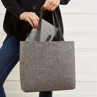 The White Company Felt Tote Bag with Zipped Pouch