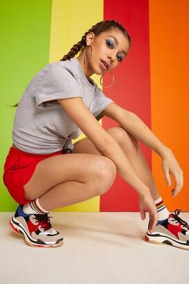 boohoo Woman Rainbow Slogan T-Shirt