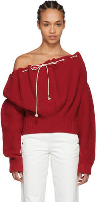 Calvin Klein Red Drawstring Sweater