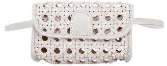 Reformation Woven Leather Waist Bag