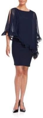 Xscape Evenings Ruffled Chiffon Overlay Dress