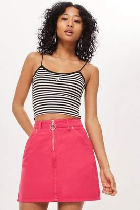 Topshop Petite Denim Skirt