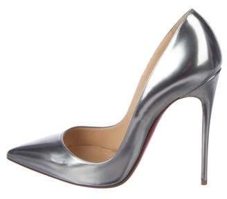 best service ff0d1 6c39b Christian Louboutin Silver Leather Heels - ShopStyle Canada