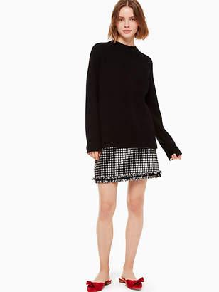 Kate Spade Houndstooth tweed skirt