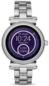 Michael Kors Sofie Stainless Steel Pavé Touchscreen Smartwatch, 42mm
