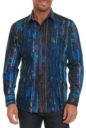 Robert Graham Limited Edition Kathleen's Blues Pleated Shirt, Multicolor $398 thestylecure.com