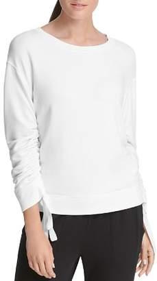 Donna Karan Ruched-Sleeve Sweatshirt