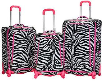 Rockland Fox Luggage Fusion 3-Piece Luggage Set