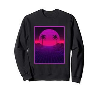 Vaporwave Aesthetic Retrowave Palm Tree Sunset Sweatshirt