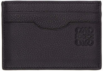 Loewe Navy Leather Card Holder