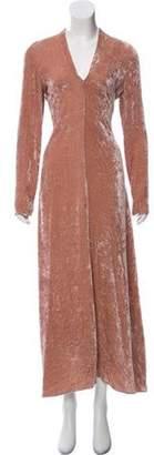 Giada Forte Velvet Maxi Dress w/ Tags Pink Velvet Maxi Dress w/ Tags