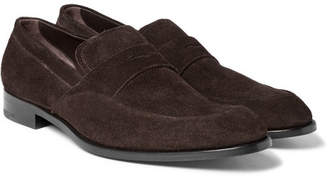 Ermenegildo Zegna Flex Suede Penny Loafers - Men - Brown