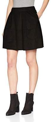 Noisy May Women's Nmlauren Faux Suede Skirt Noos Black, 8 (Size: )