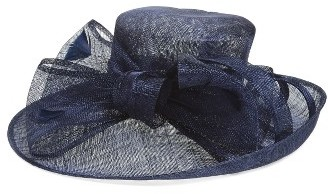 Women's Nordstrom Sinamay Bow Derby Hat - Blue $69 thestylecure.com