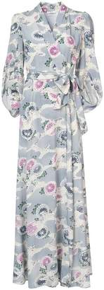 Co kimono sleeve wrap maxi dress